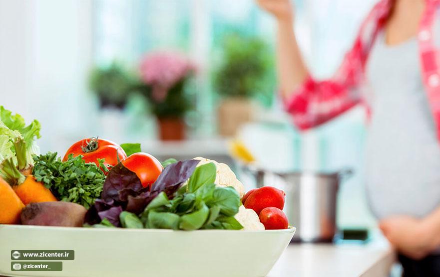 رژیم غذایی ارگانیک در دوران بارداری